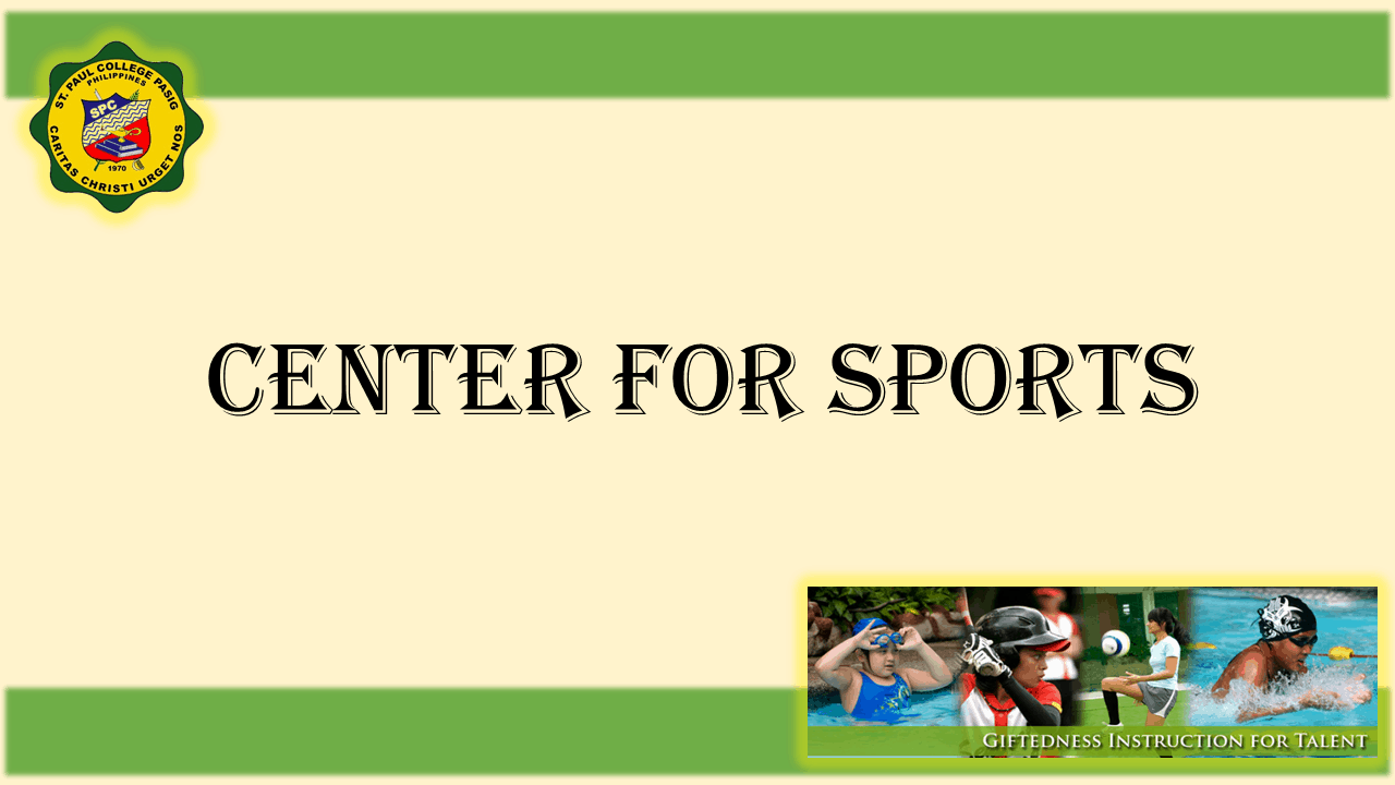 1 TITLE CENTER FOR SPORTS