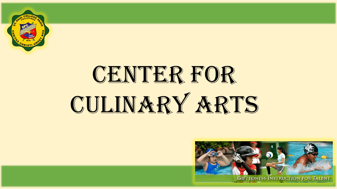 1 TITLE PAGE CENTER FOR CULINARY ARTS