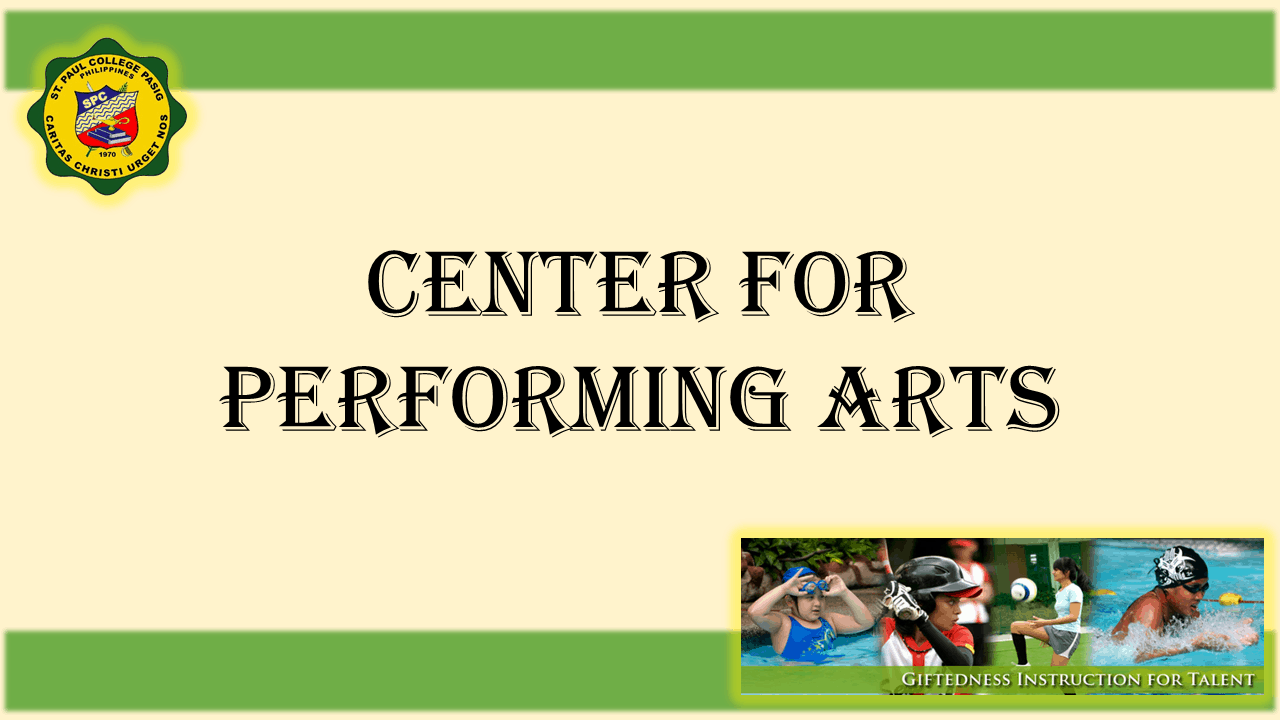 1 TITLE PAGE CENTER FOR PERFORMING ARTS