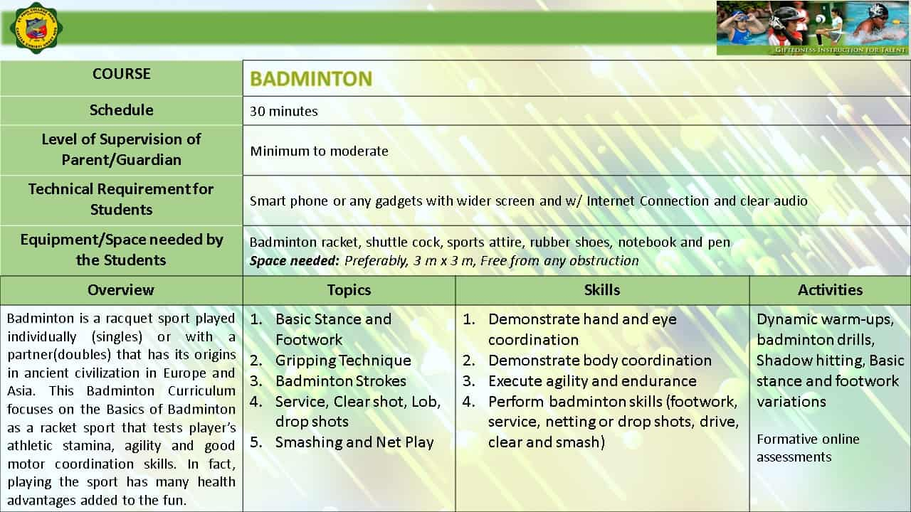 BADMINTON EMERGING