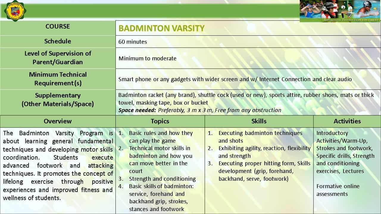 BADMINTON VARSITY EMERGING