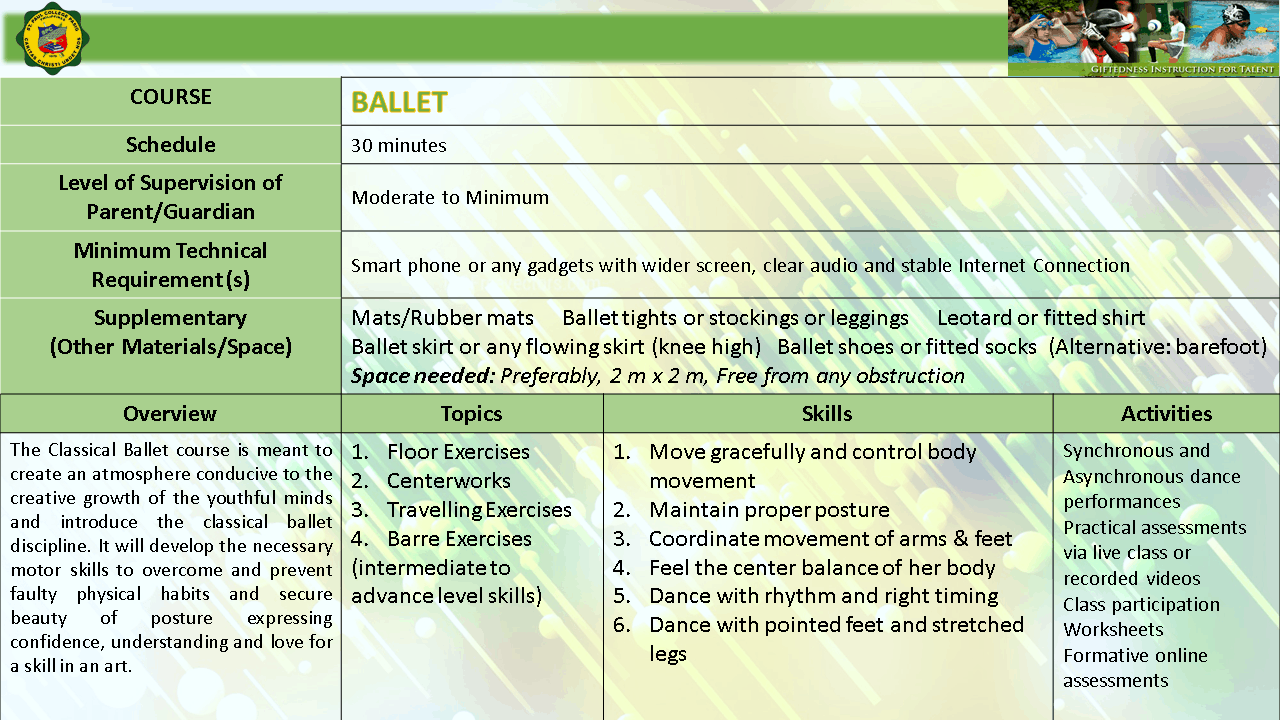 BALLET EMERGING