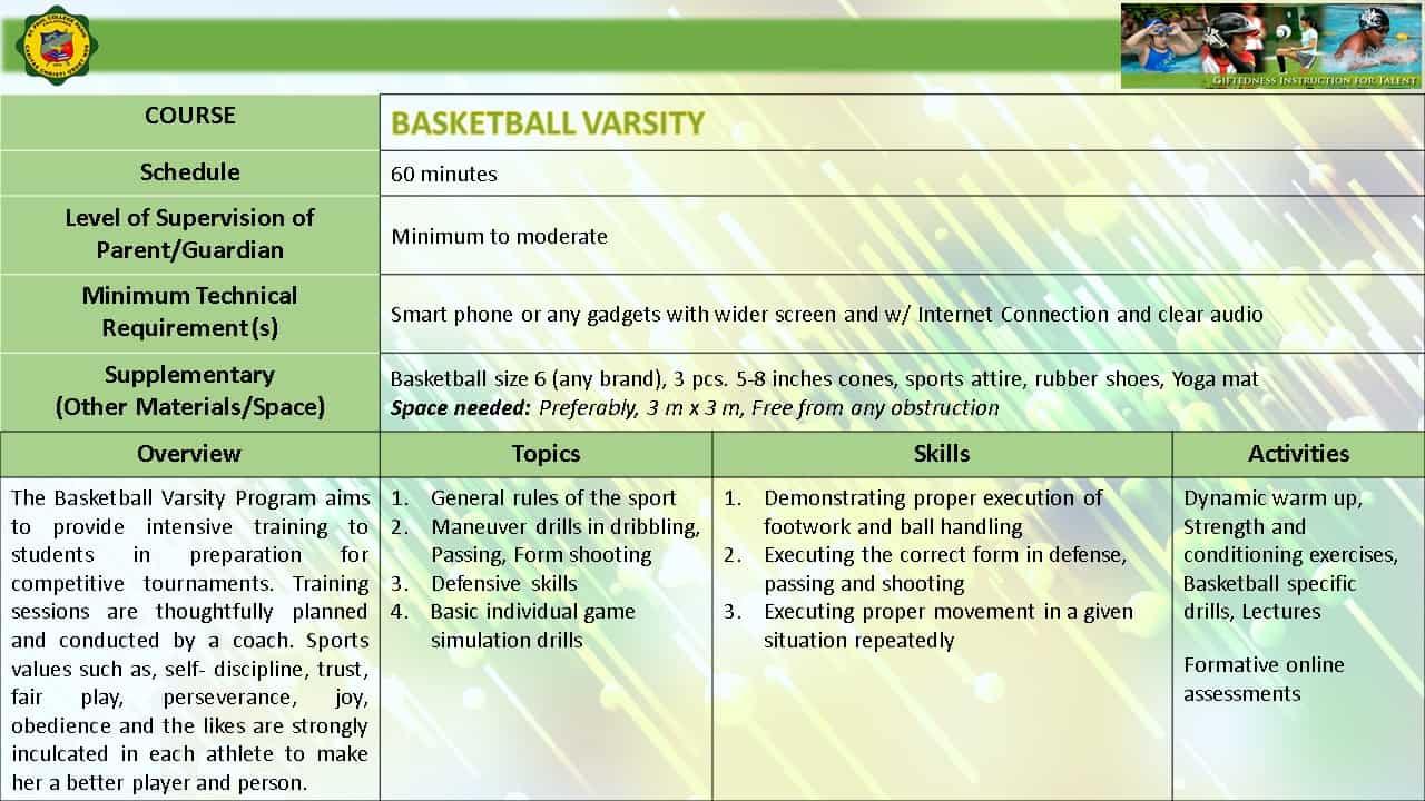 BASKETBALL VARSITY