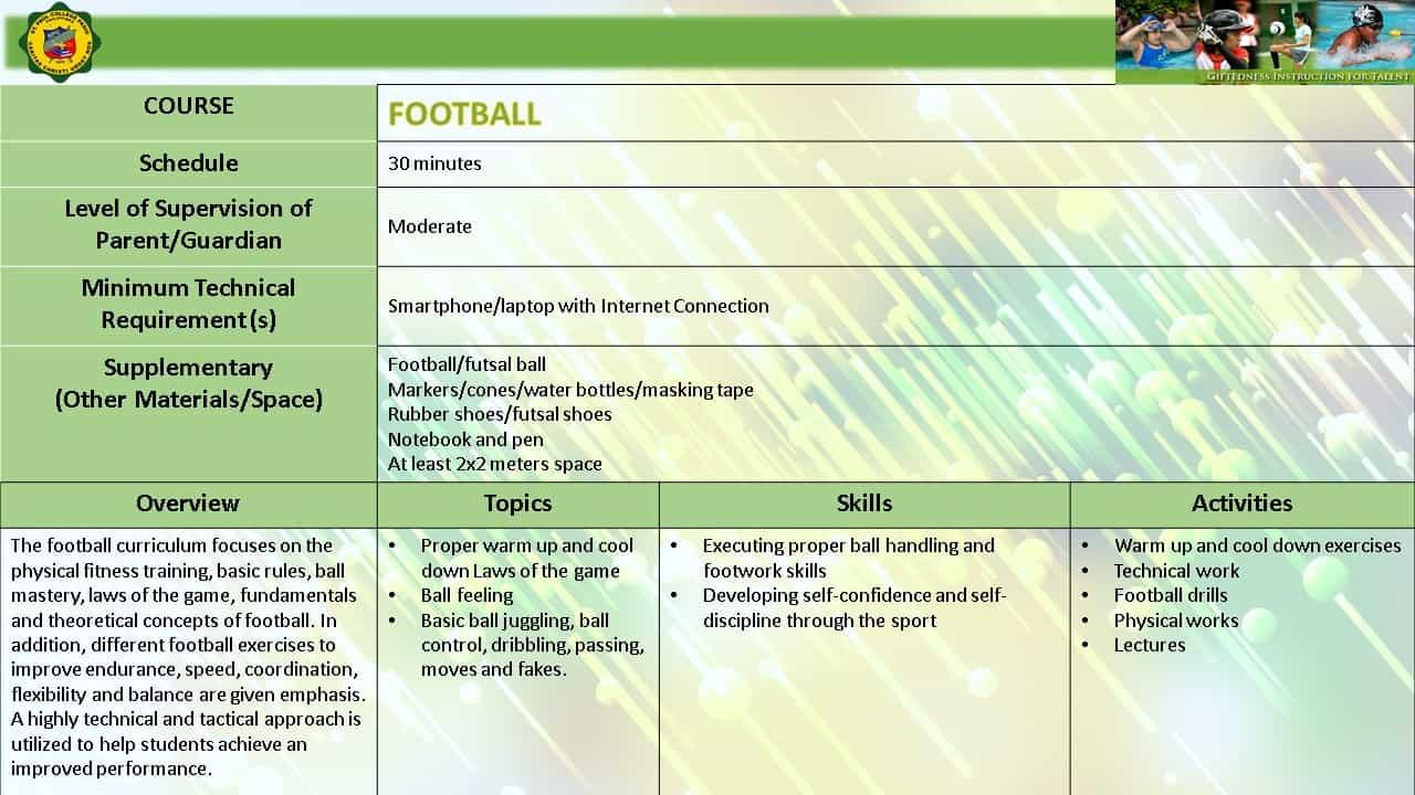 FOOTBALL EMERGING