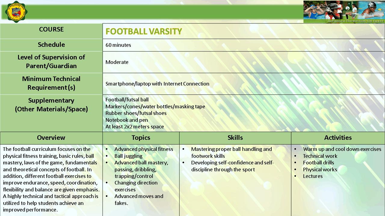 FOOTBALL VARSITY